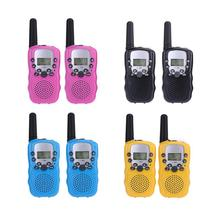 2pcs Mni Handheld Toys Walkie Talkie 2-Way Radio 5KM Range 8 Channels Children Portable Walkie Talkies Kids Christmas Gift Toys