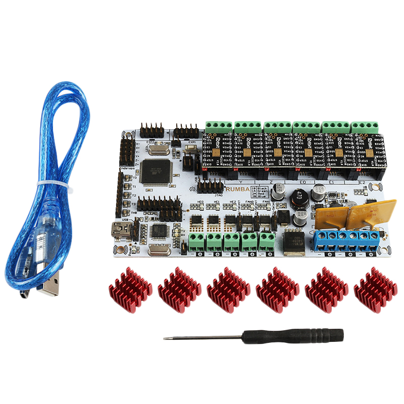 3D Printer Accessories Rumba Motherboard + Tmc2130V1.0X6 Marlin Firmware Compatible Cnc Engraving Machine
