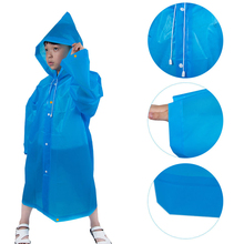 Raincoats Ponchos-Coat Waterproof Kids Children Reusable 1pc Student 6-12-Years-Old