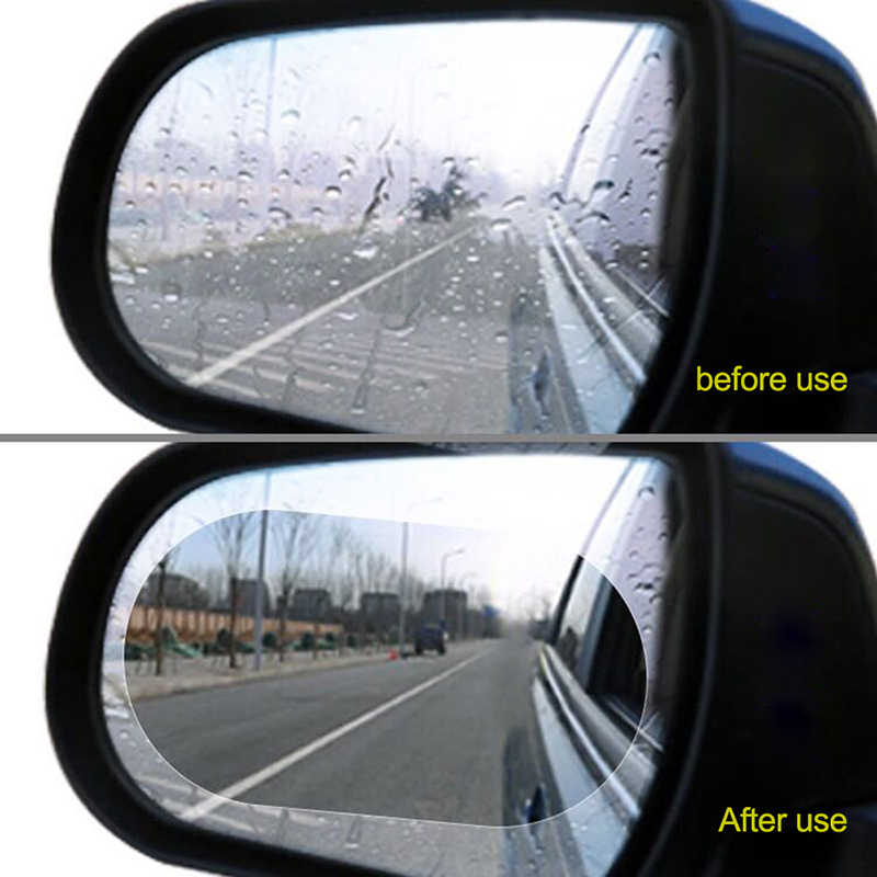 US 2pcs Car Rearview View Mirror Waterproof Anti-Fog Film Anti-Glare Protector