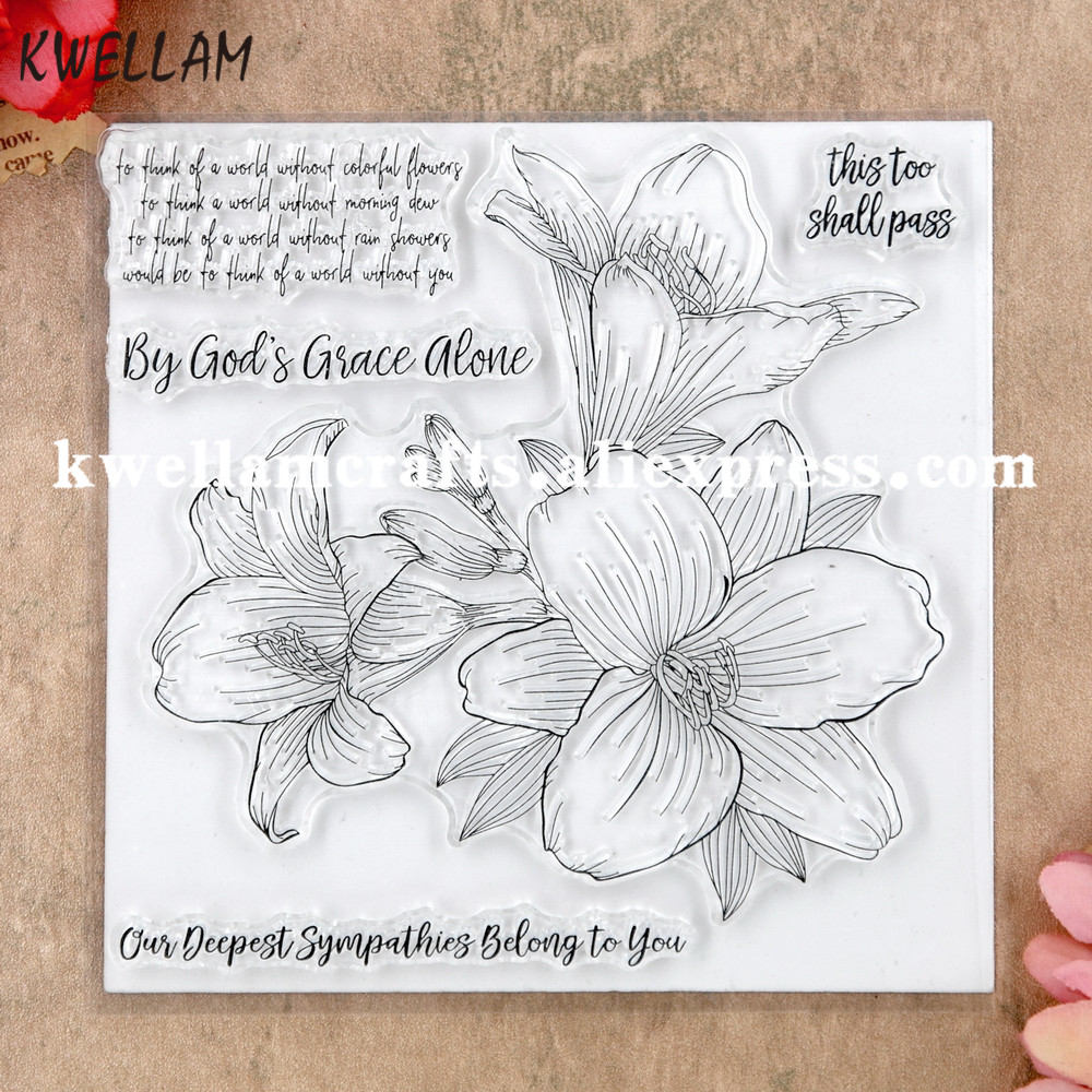 flowers Clear Silicone Stamp  Album Scrapbooking Photo Card magnolia