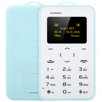1.0 inch AIEK/AEKU C6 Card Phone English Keyboard Bluetooth 2.0 Calendar Alarm Calculator