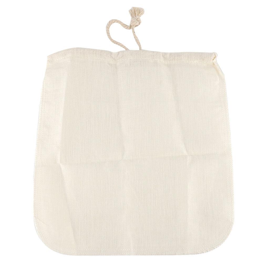 Nut Milk Brew Coffee Juice Reusable Nylon Mesh Strainer Filter Bag Grateful