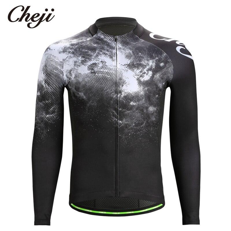 CHEJI 2019 Spring Autumn Men\'s Cycling Shirts Long...