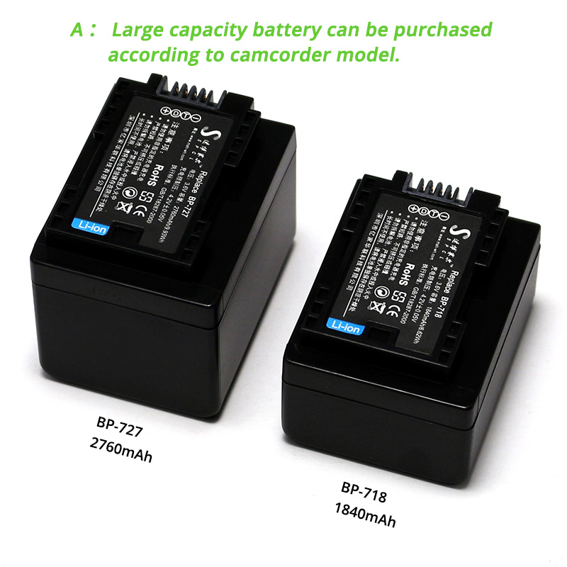 LCD Micro USB Battery Charger for Canon LEGRIA HF R56 R57 R66 R67 R68 R76 R78 HD Camcorder