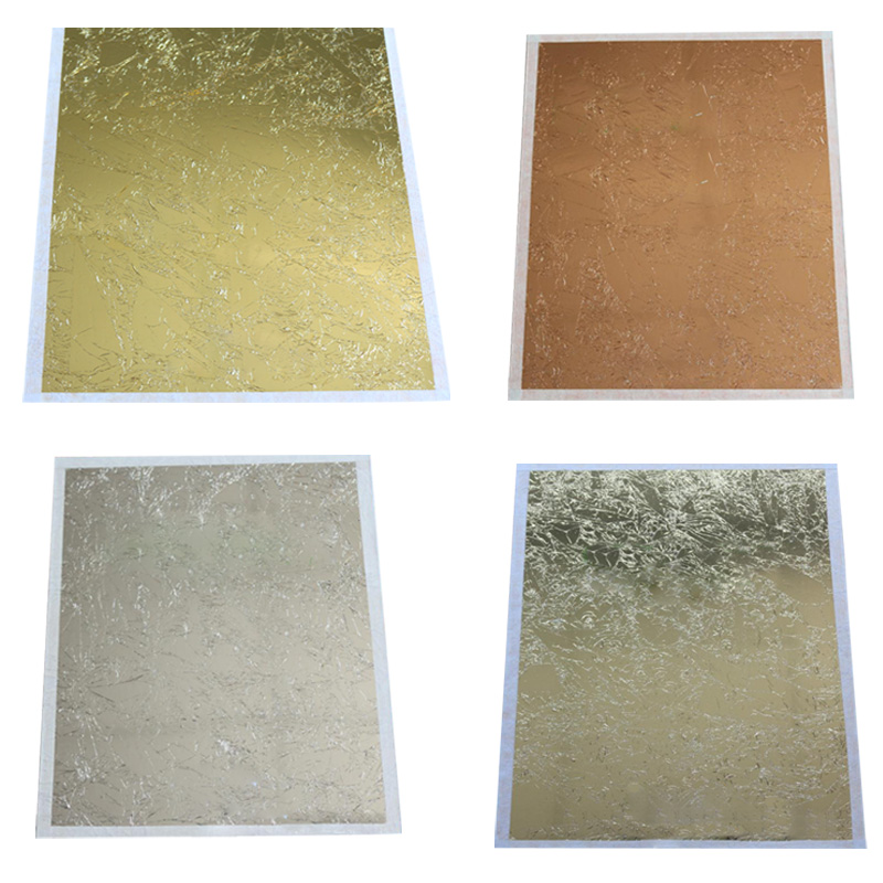 Not Imitation 100pc Copper Leaf Sheet 14cm Leaves Gild Gilding Decoration Foil