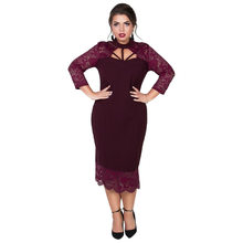 Pencil Lace Dress Red Des Promotion Achetez 80nwPXOk