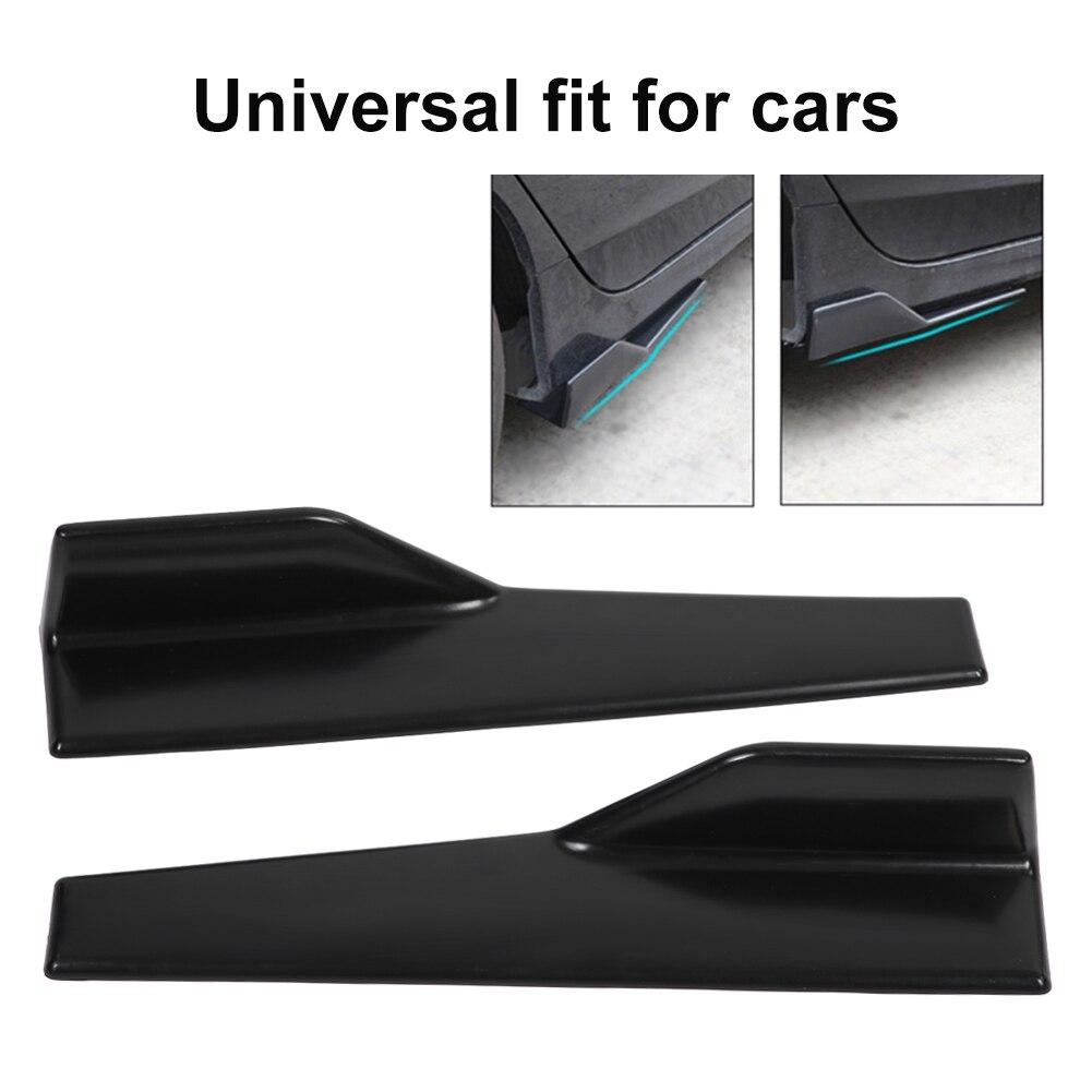 2Pcs Universal Black Side Skirt Rocker Splitters Winglet Wings Canard Diffuser