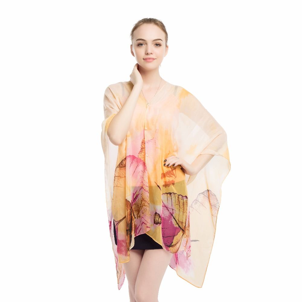 summer women cover up kaftan chiffon swim wear beach bikinis sundress printed sarong dresses 2019 newest design shawls