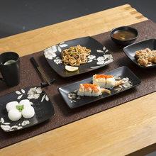 Japanese Ceramics Tableware Hand Western-style Food Disc Sushi Ceramics Disc Hotel Steak Disk Soup Bowl Rice Bowl Household(China)
