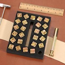 26pcs Alphabet Leather Stamping Printing Punch Tools 26 English Letters Metal Stamp Set Leathercraft