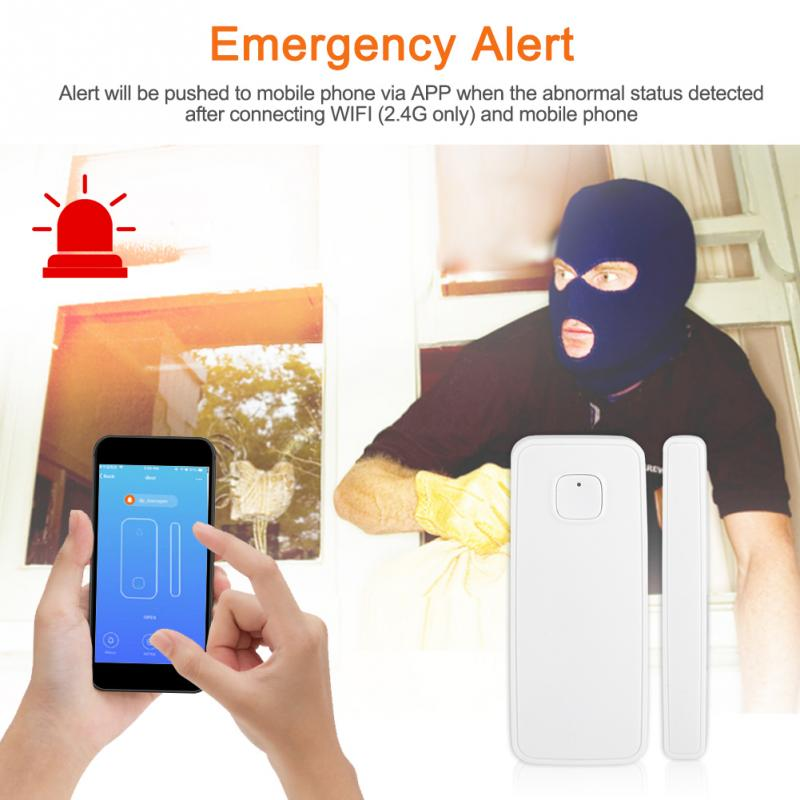 WIFI Smart Door Window Alarm Sensor Wireless Remote Control for Home Security(China)