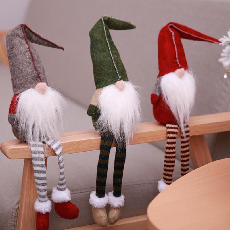 BESTOYARD Enanos gnomo Figuras Invierno Duende de la Navidad Decoraci/ón Stripe Pattern