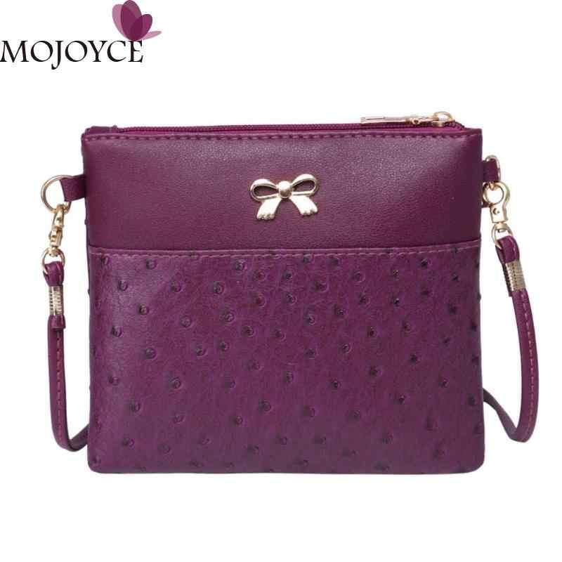 Vintage Bowknot Sling Messenger Bag for Women Brand Designer PU Shoulder  Satchel Handbag Ladies Luxury Zipper dcee7413d7d8
