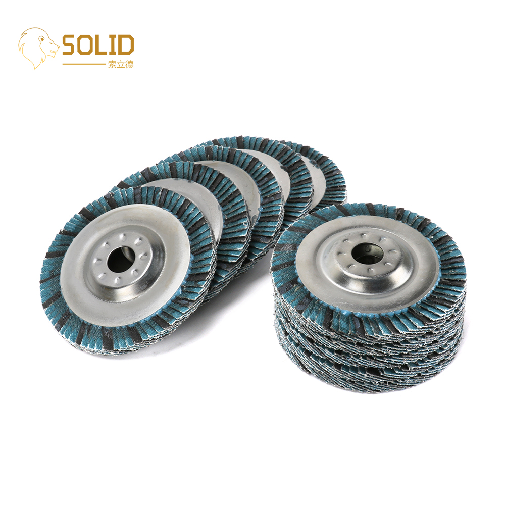 2Pcs 4inch Abrasive Flap Disc Radial Shape For Metal Polishing Grinding 60Grit