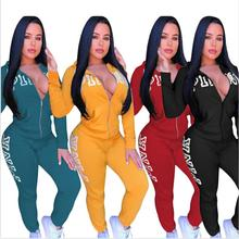 Pants Suits Clothing-Sets Letter Two-Piece-Set Casual Outfits Print Pink Plus-Size
