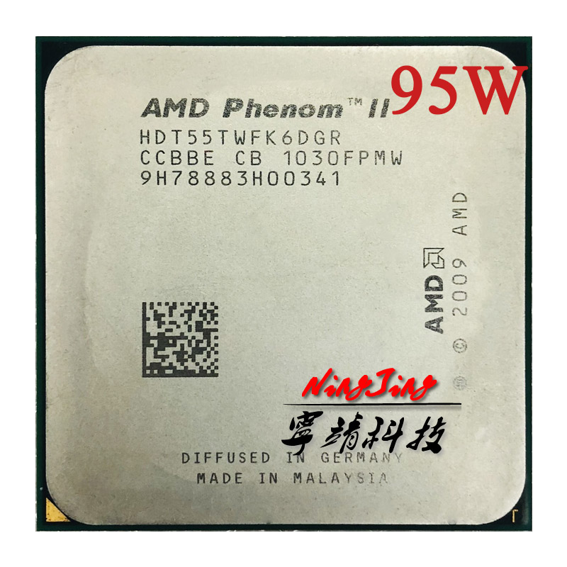 AMD Phenom II X6 1055T 1055  2.8G 95W Six-Core CPU processor HDT55TWFK6DGR Socket AM3 title=