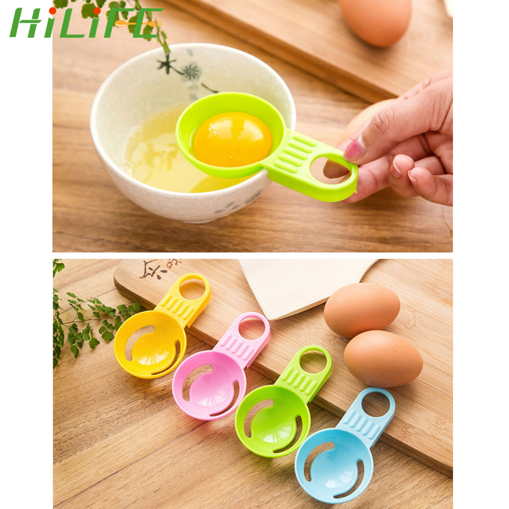 5Pcs Egg Yolk Separator Separates Plastic Sieve Kitchen Tools Baking Accessory