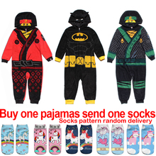 Boys Onesie Kids Pajamas Children Robe Super Hero Cosplay Anime Animal Blanket Sleeper Hooded Towel Winter Fleece Bathrobe