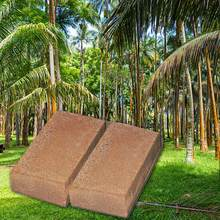 650gsterile green natural plant material nutrient coconut fiber brick can be used as gardening soil vegetable or reptile bedding(China)