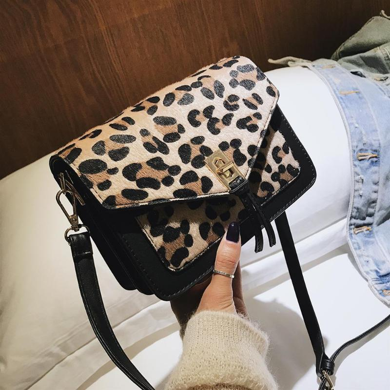 PU Leather Shoulder Bag,Leopard Fashion Backpack,Portable Travel School Rucksack,Satchel with Top Handle