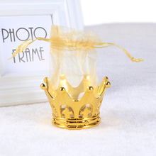 12pcs Golden Crown Candy Favor Bags Gift Treats Chocolate Holders Bags Containers Table