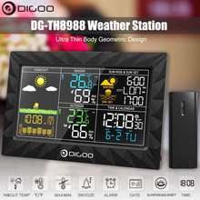 Hygrometer Clock Weather-Station Remote-Sensor DIGOO Sunrise Dg-Th8988-Color Outdoor