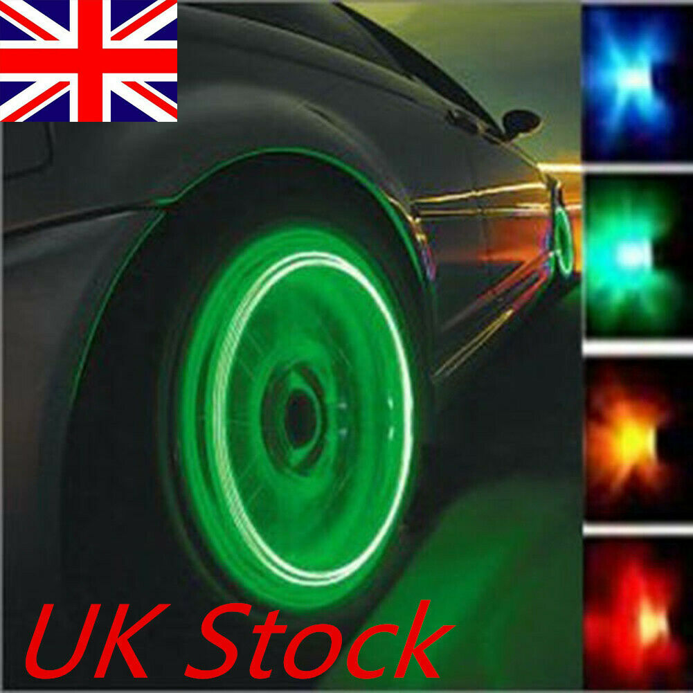 4//8 Pcs Valve Stem LED CAP for Bike Bicycle Car Motorcycle Wheel Tire Light lamp