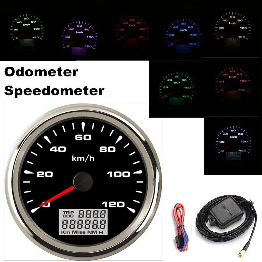 85mm Stainless Steel Digital Gps Speedometer Gauge Waterproof 70 Speedometers Speed Sensor Vdo New 200kmh Odometer For Atv Utv Motorcycle Marine Boat Buggy Golf