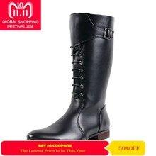 Zorssar  2018 moda botas hombres botas militares botas de montar ecuestres  Pu cuero Mens rodilla botas de invierno zapatos masc. 7ddfd5c27c085