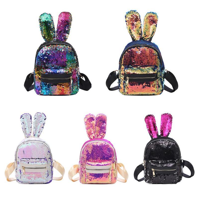 Women Girls Sequins Backpack Shiny Bling Travel Rucksack School Shoulder Bag New