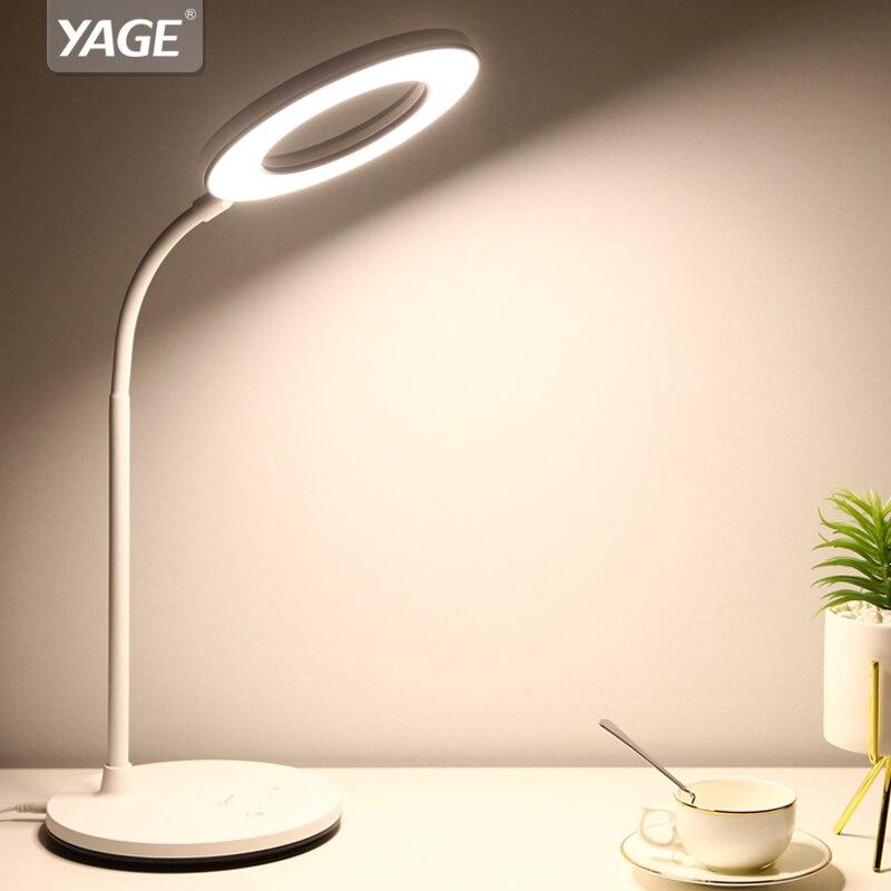 Aifeng Auge Usb Powered Led Licht Für Tisch Stufenlose Dimmen Flexible Metall Schwanenhals Schreibtischlampe Tischlampe Für Studie Lampen & Schirme Schreibtischlampen