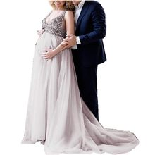 1c241c4fa1a New Pattern Pregnancy Dress Sexy Chiffon Long Section V Lead Sling Maternity  Bridesmaid Dresses For Photo Shoot Robe Vestidos