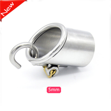 Buy New male chastity device penis sleeve bird lock bondage stainless steel cock cage sex toys men metal cockring dick sleeves
