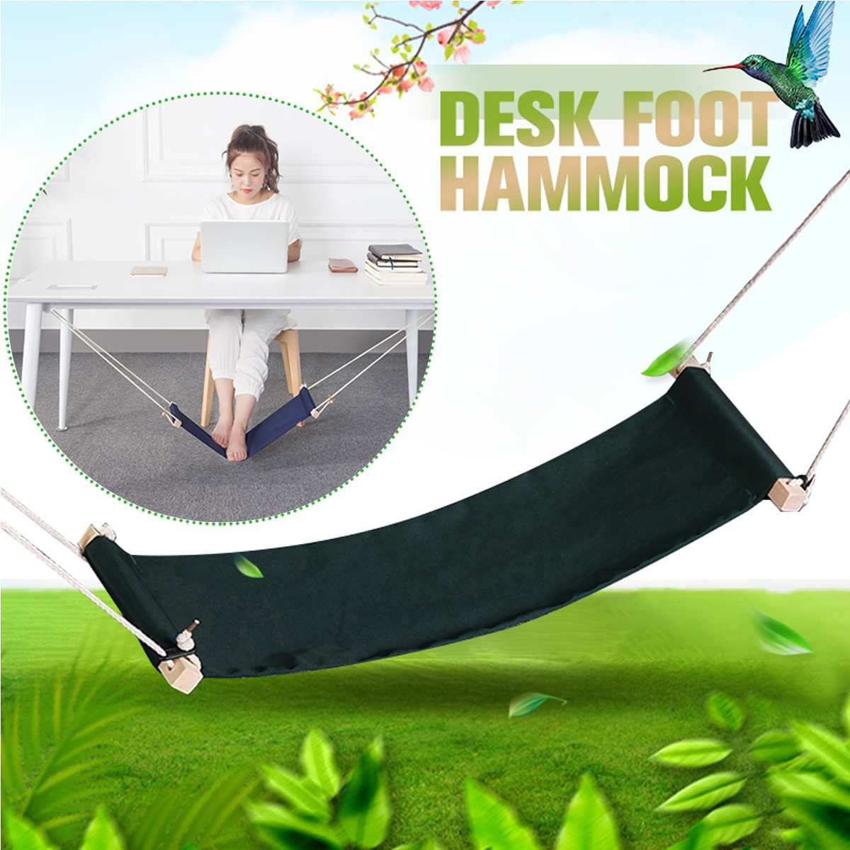 Feet Hammock Desk Foot-Rest Office Adjustable Home The Surfing Internet Welfare Hobbies title=