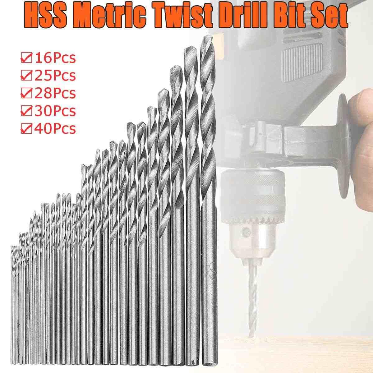 10Pcs//Set HSS Titanium Twist Drill Bit Hex Shank 0.3mm-3mm Steel Speed High