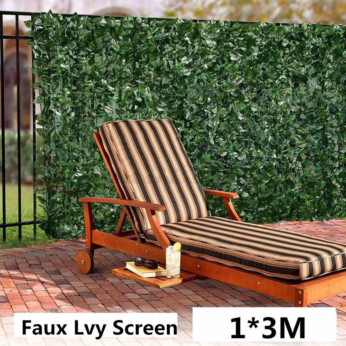 1x3m Plant Wall Artificial Lawn Boxwood Hedge Garden