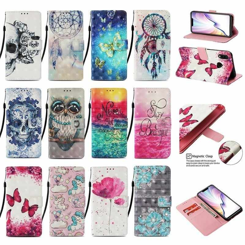 Luxury 3D Painted Wallet Leather Case For Xiaomi Pocophone F1 Book Flip Style Phone Cover for Poco phone F1