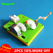 dd839d298f2 Happyxuan DIY Gerador de Manivela Montar Modelo de Plástico Kits de Ciência  Brinquedos Experimento de Física Educacional Criativ.