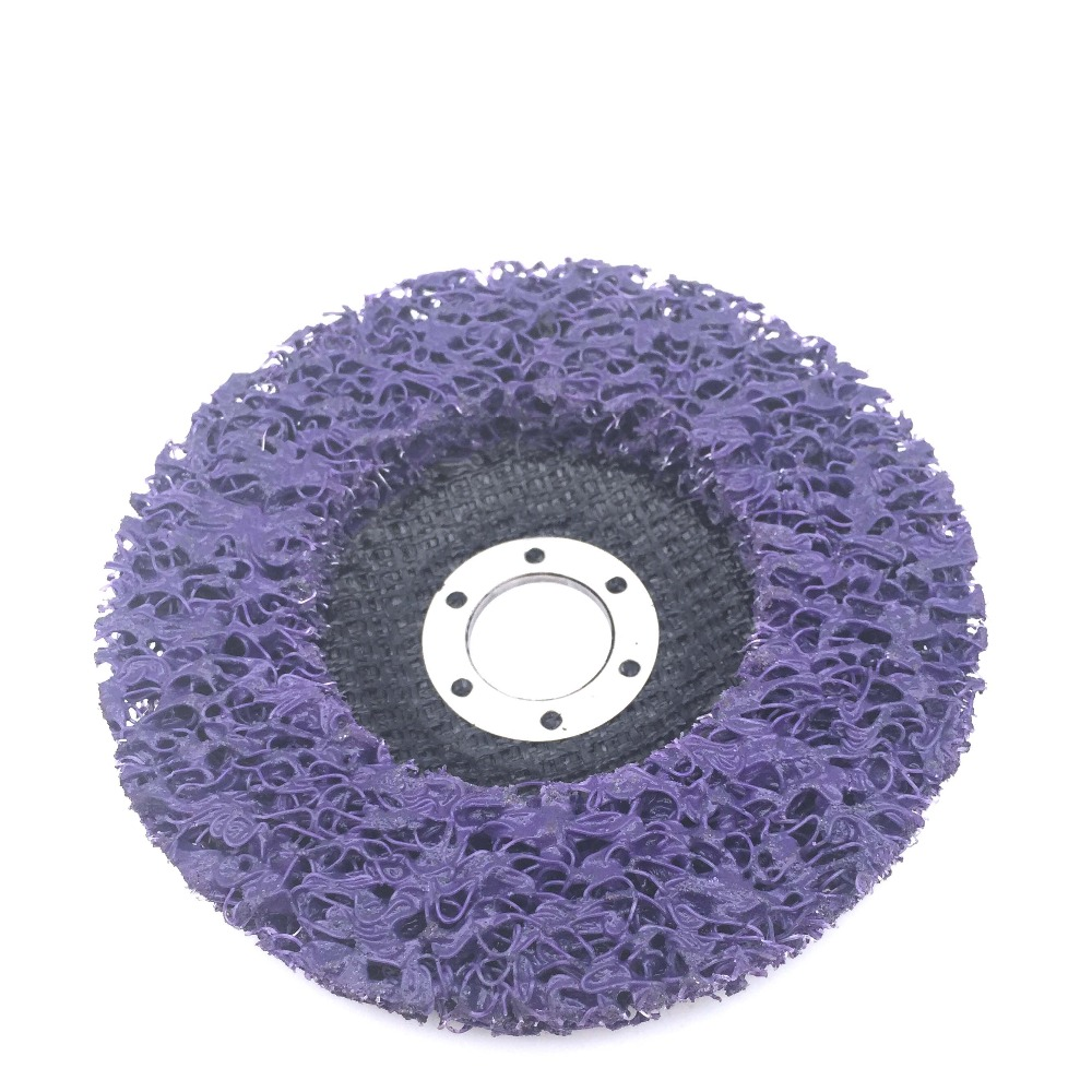 10pcs 115mm Poly Strip Disc Abrasive Wheel For Angle Grinder Paint Rust Removal
