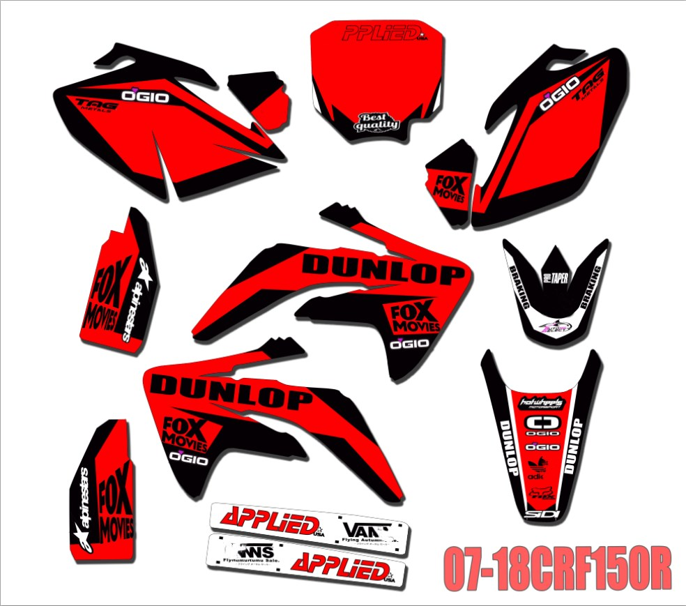 Buy honda crf150r sticker kits and get free shipping on aliexpress com