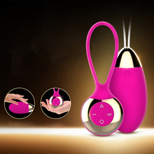 Buy 10 frequency Kegel Ball Vibrator Wireless Remote G Spot Clitoris Stimulator Vagina Massage Vibrator Egg Adult Sex Toys Women