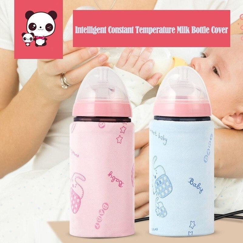 USB Botella de leche Funda de aislamiento Termostato port/átil al aire libre calentador de botellas calentador de leche caliente Calentador de leche F Bolsa t/érmica para biber/ón