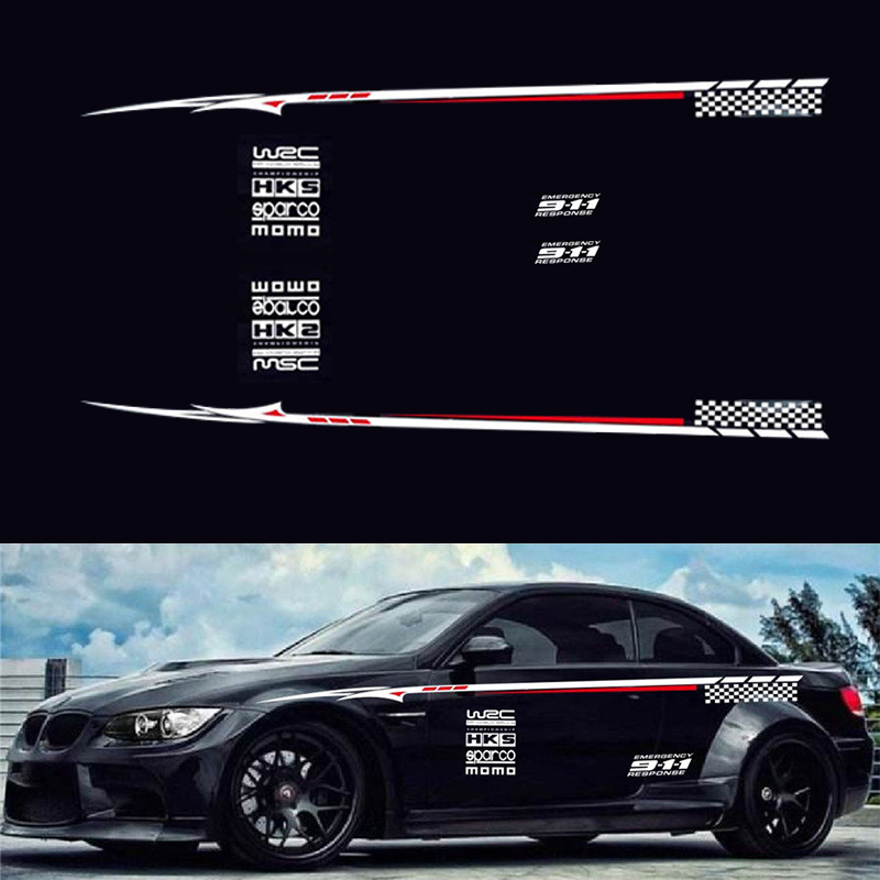 Auto Car Styling Whole Body Bumper Decals /& Stickers Graphics Film BK Material