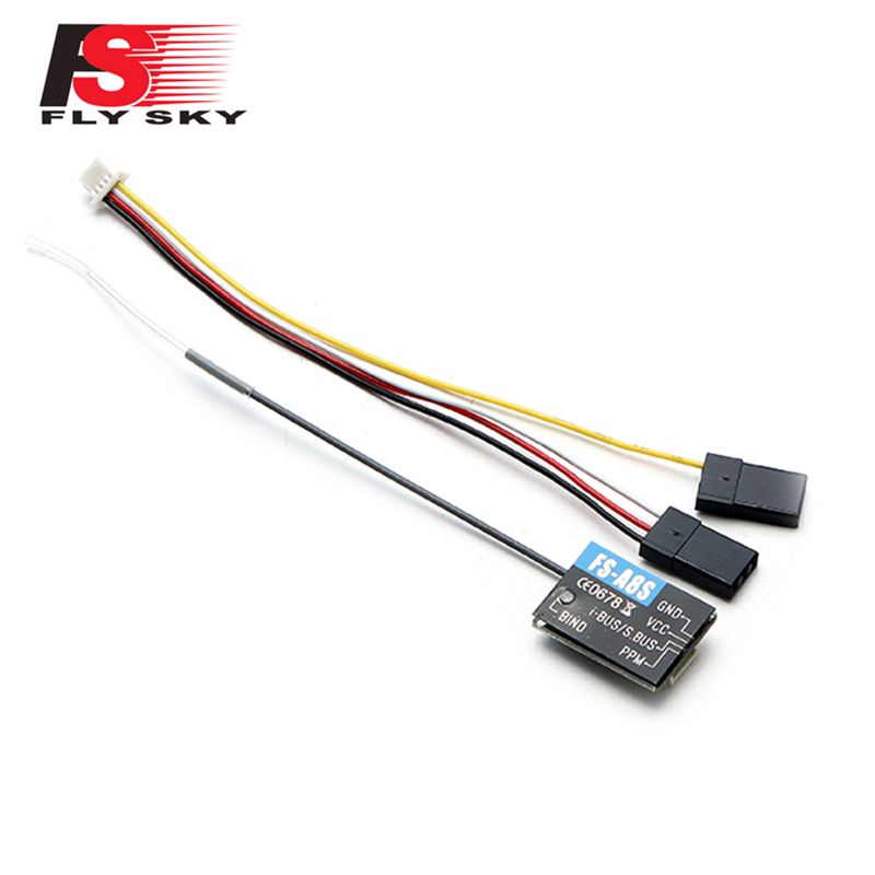 Flysky FS-A8S FS A8S 2.4G 8CH Mini Receiver with PPM i-BUS SBUS Output for Drone Quadcopter Spare Parts Accessories(China)