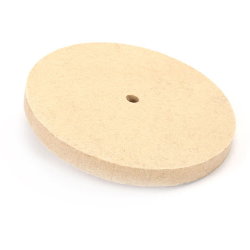 Beige Polishing Buffing Grinding Wheel Wool Felt Polisher Disc Pad Polisher Pads