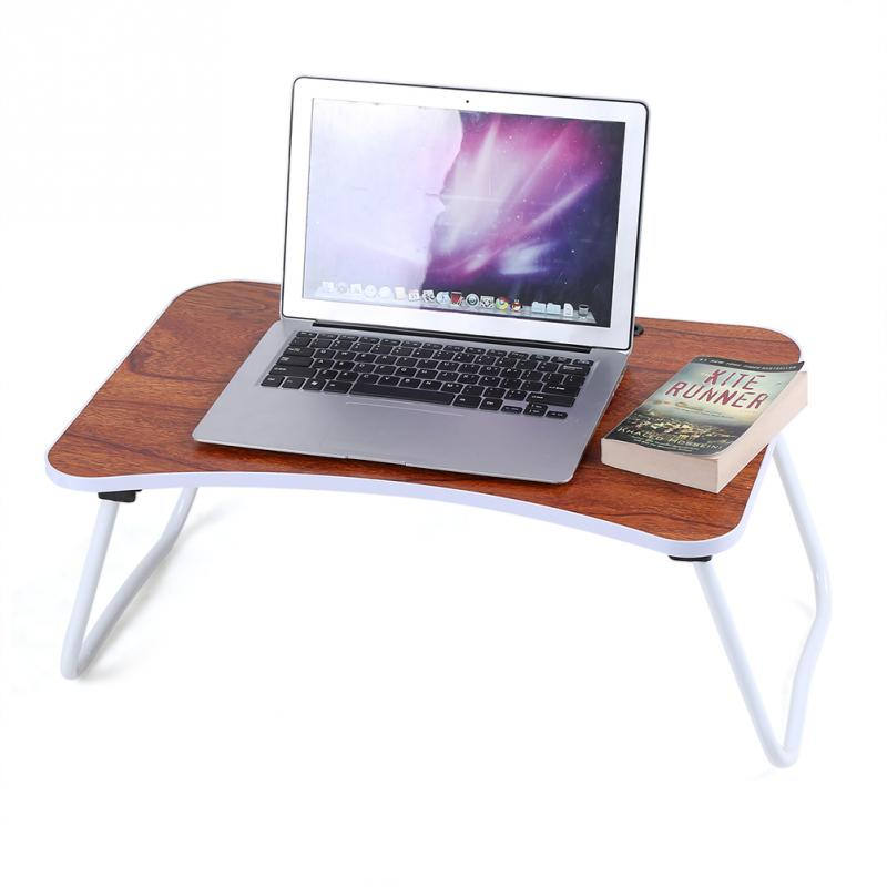 Multi-purpose Folding Laptop Bed Desk Portable Standing Table Breakfast Tray Folding Bed Desk Table Stand Tray (China)
