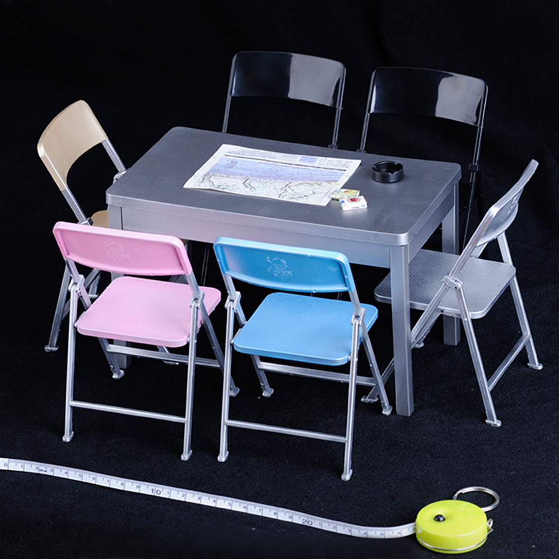 1//6 Scale Model Wooden Table DIY Desk Model Furniture Accessories 2 Color