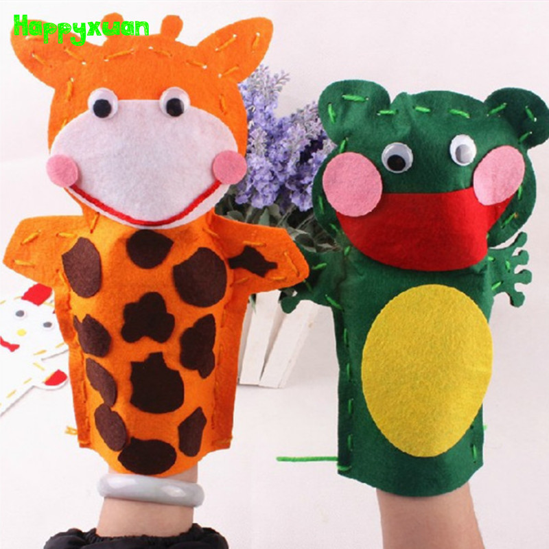 Lovely Animals Pattern Doll DIY Hand Puppets Glove Craft Toy Gifts Educational