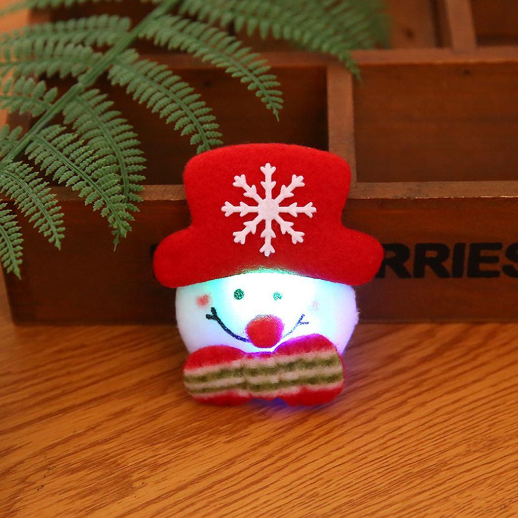 Hoomall Brooch Led Glowing Cartoon Santa Claus Snowman Deer Christmas Brooch Pin Cute Xmas Toy Flag Pin Art Pin Arts,crafts & Sewing
